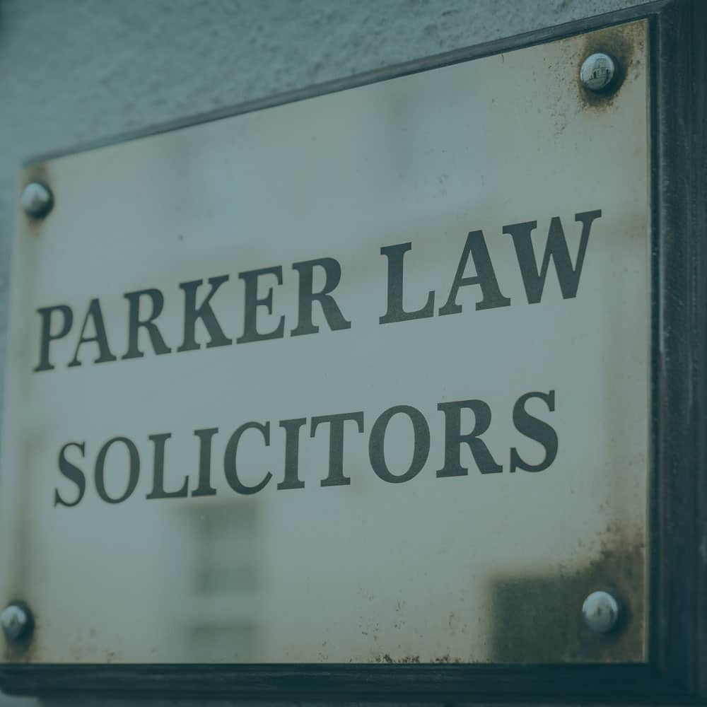 Parker Law Solicitors Plaque